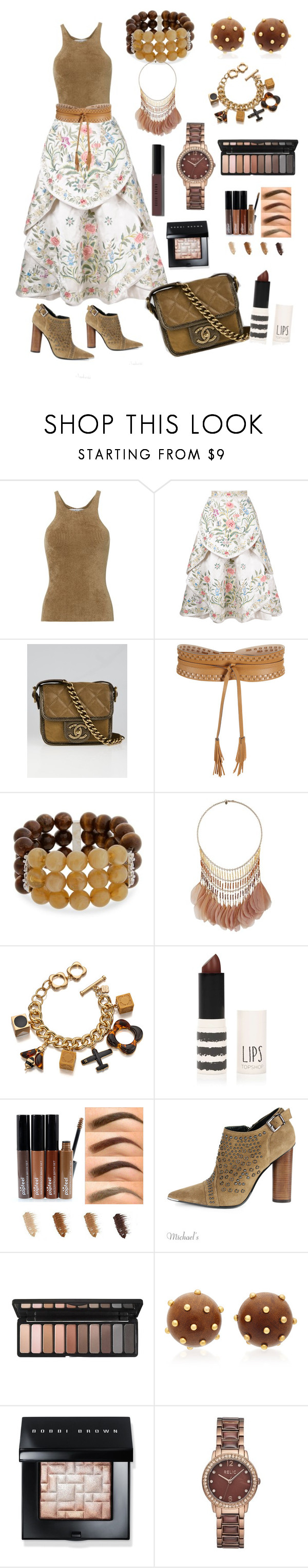 """""""Brown 2"""" by luisferni-1988 ❤ liked on Polyvore featuring Helmut Lang, Eavis & Brown, Chanel, BCBGMAXAZRIA, Erica Lyons, Miss Selfridge, Orla Kiely, Topshop, Barbara Bui and Charlotte Russe"""