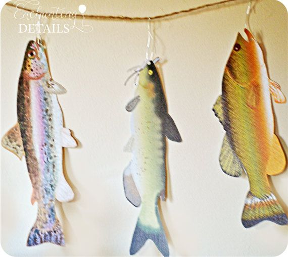 fishing fish banner template by enchantdetailsevents on etsy
