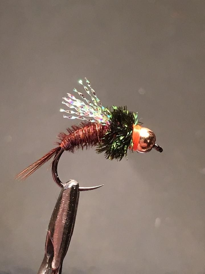 12 Brown Epoxy with breathers Trout Flies Mixed 10 to 16 Epoxy Buzzers Flies