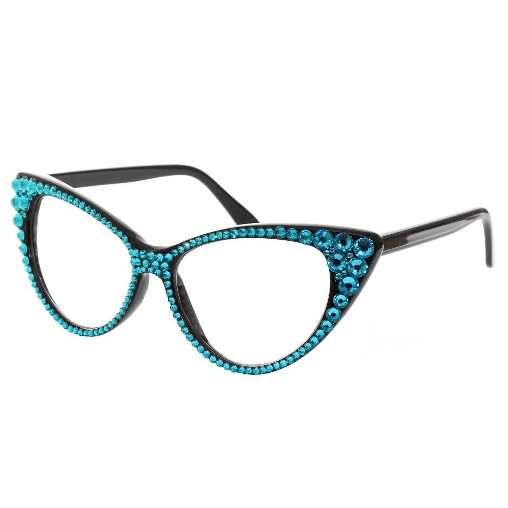 cat eye glasses image | Home › Accessories › Turquoise Crystal Cat ...