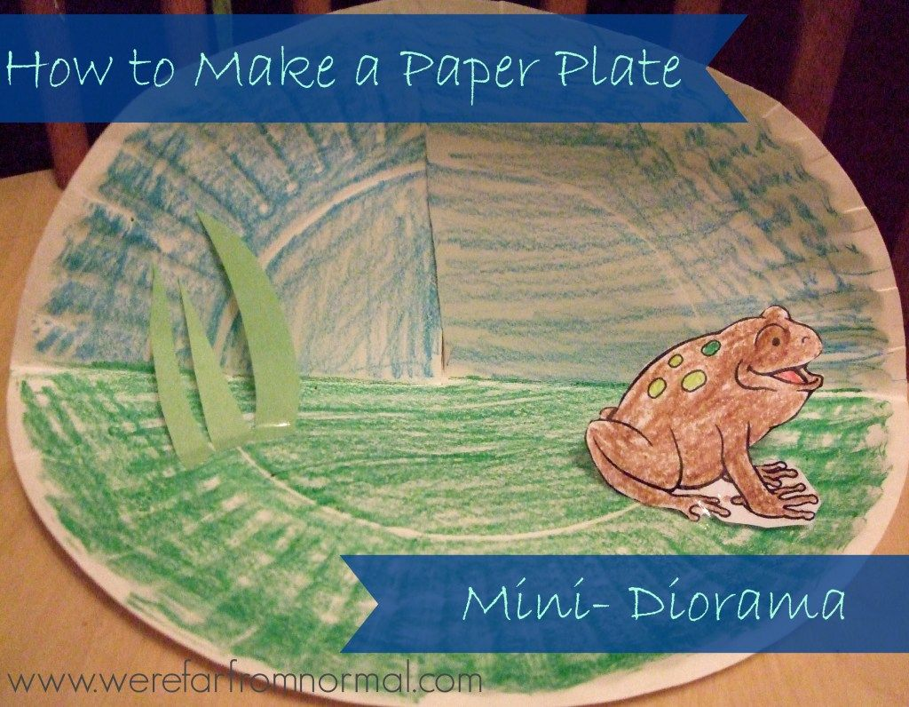 How To Make A Paper Plate Mini Diorama And A Lesson On