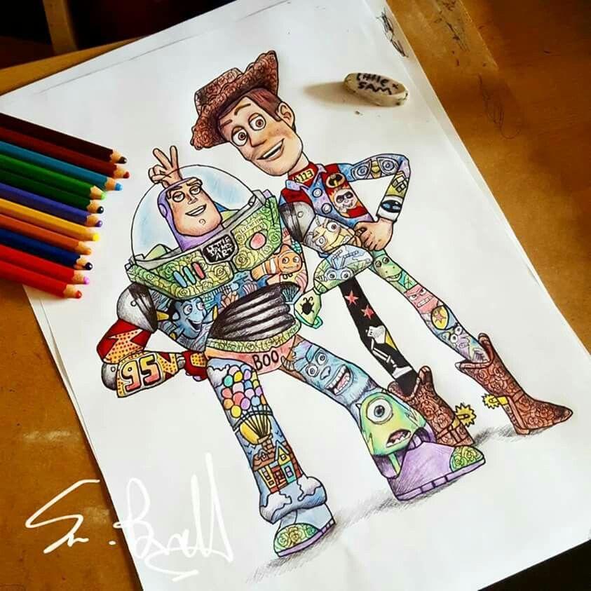 Toy Story Best Friends Disney Paintings Disney Drawings Disney Artwork