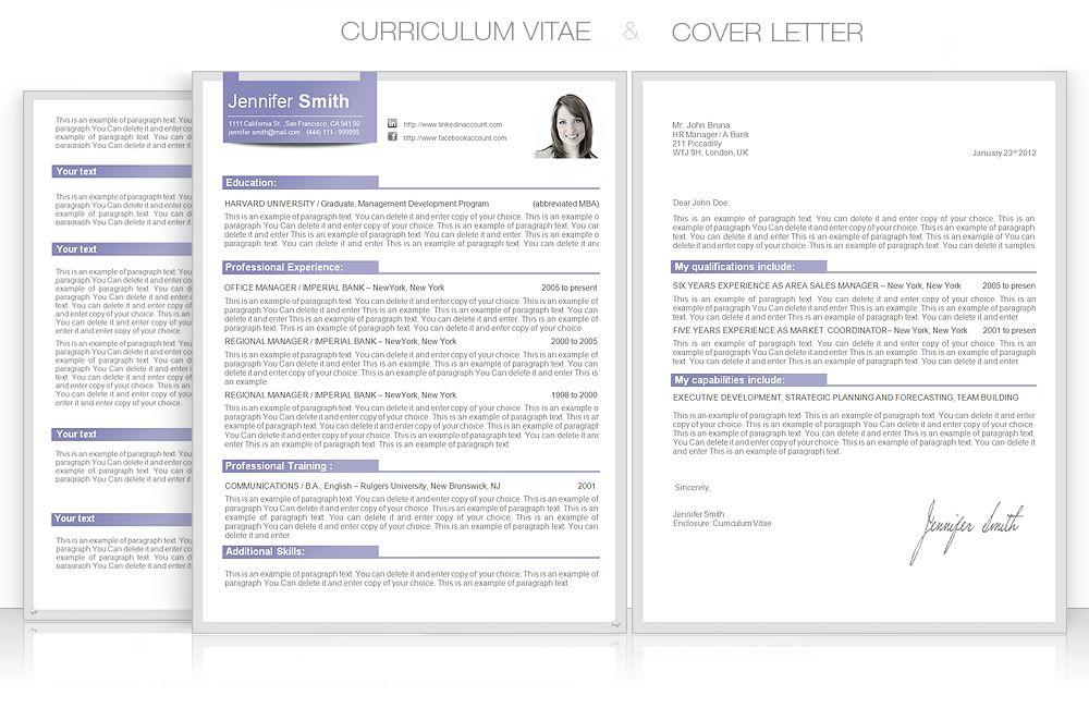 CV, CVTemplate, CoverLetter, CVdesign CV template