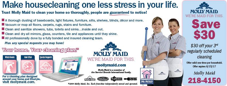 Molly Maid is maid for cleaning messes in the Rochester NY area! Save today on services with Valpak coupons.