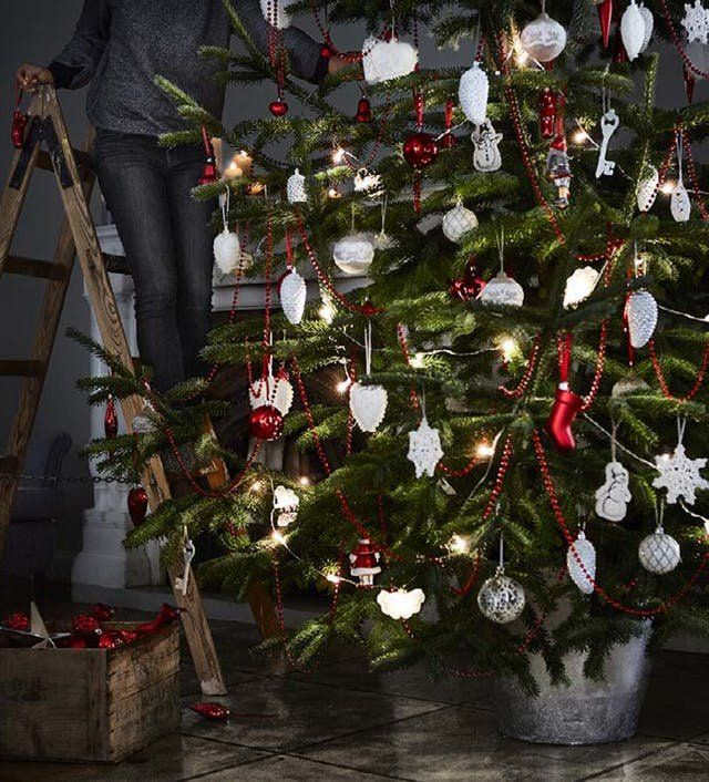 The 10 Best Holiday Decorating Ideas From The Ikea Catalog Ikea Christmas Christmas Tree Decorations Christmas Decorations