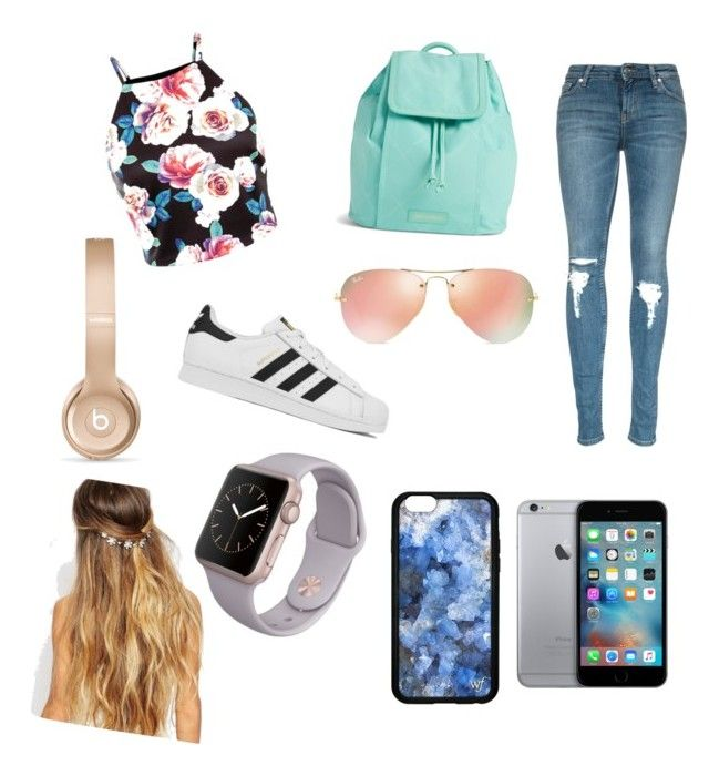 """""""Spring day out"""" by froraistrefi3 on Polyvore featuring adidas, Vera Bradley, Ray-Ban, Beats by Dr. Dre, Johnny Loves Rosie, women's clothing, women, female, woman and misses"""