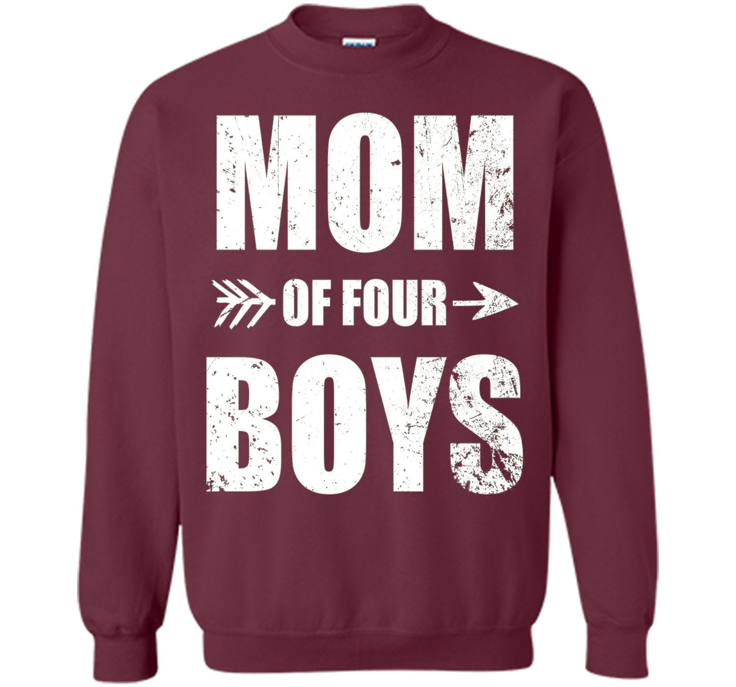 Proud Mom Of Four Boys T-Shirt. T-Shirt For Mom Of Four Boys - mother's day