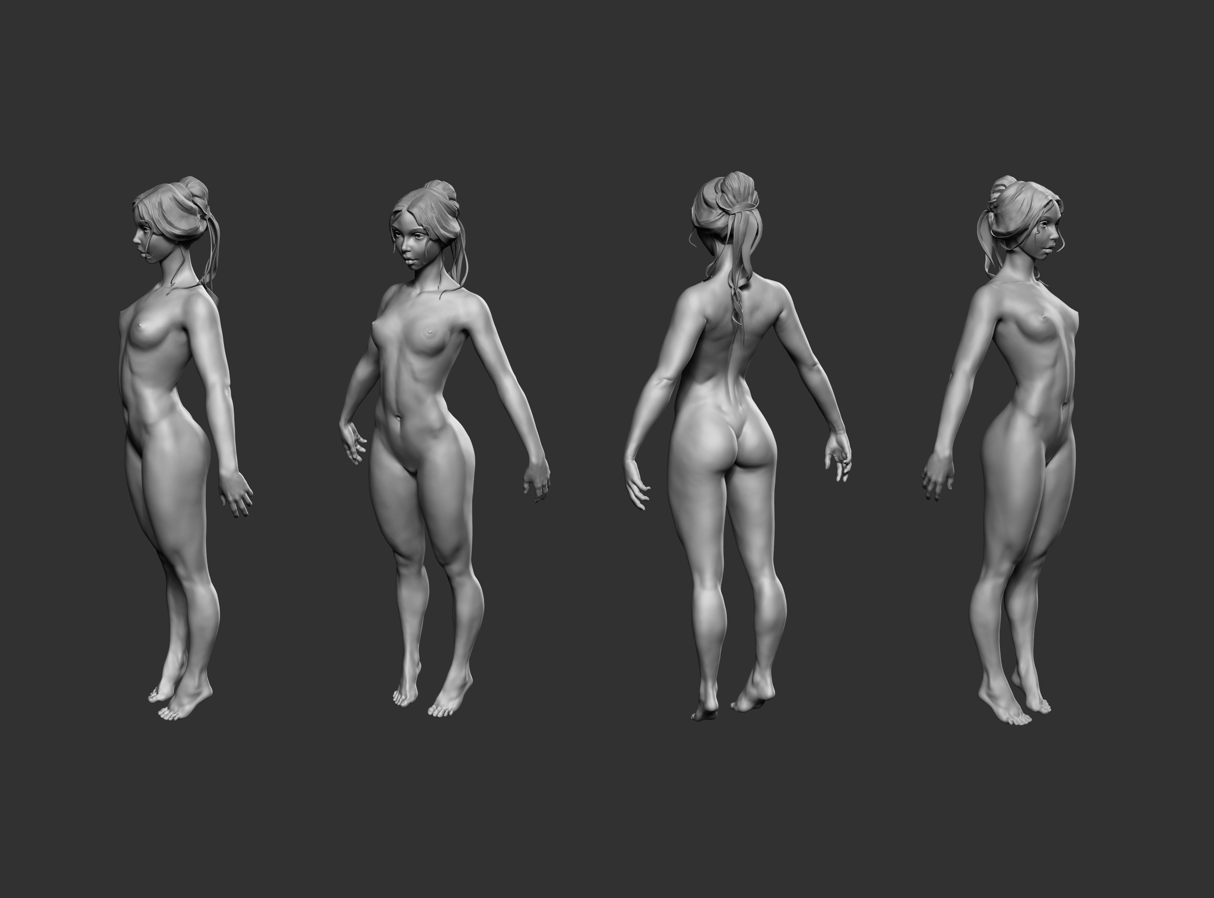 Female Basemesh 01   3D model   Anatomy   Pinterest   3d, Anatomy ...
