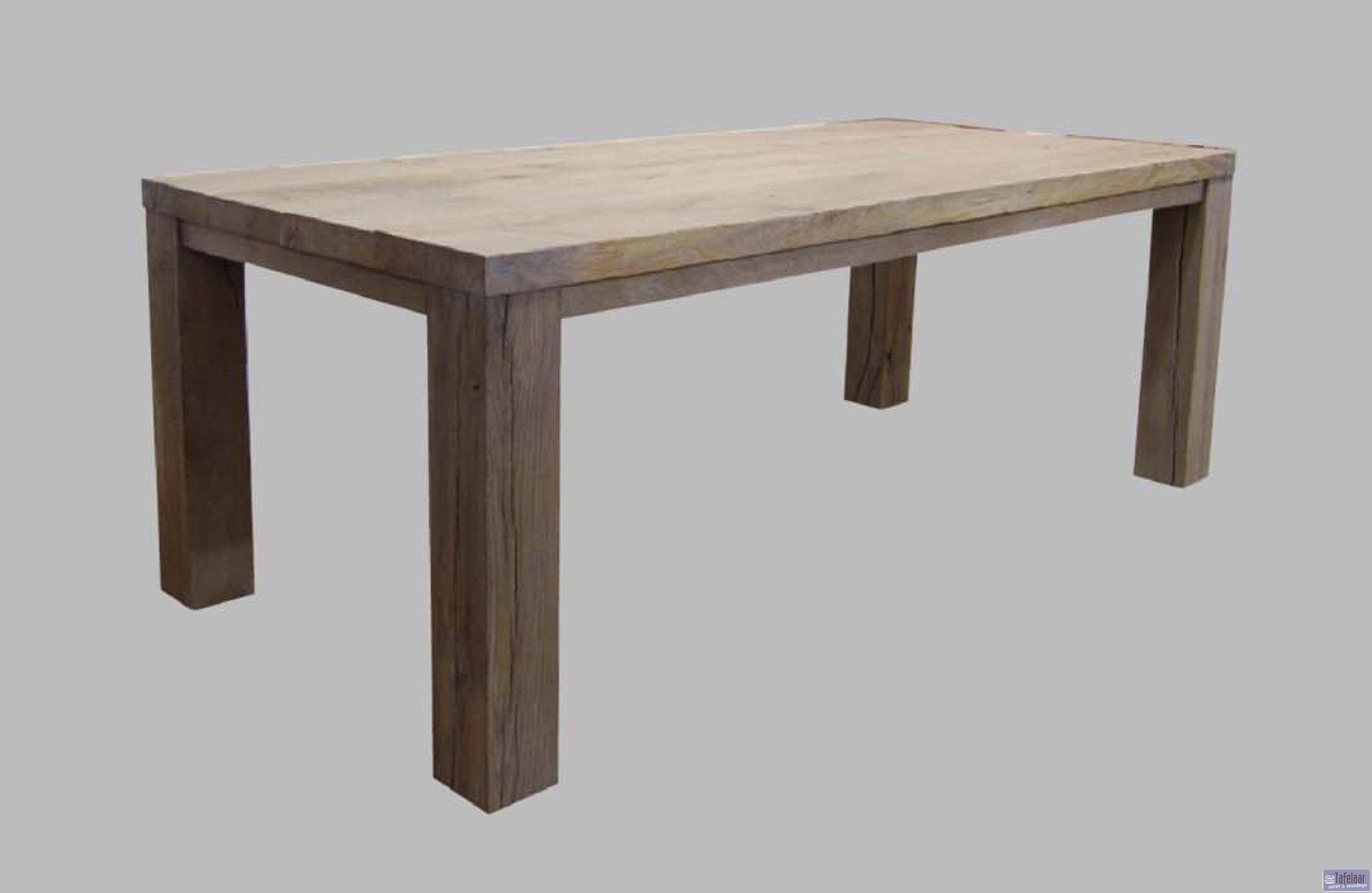 Teak tafel kleiner maken