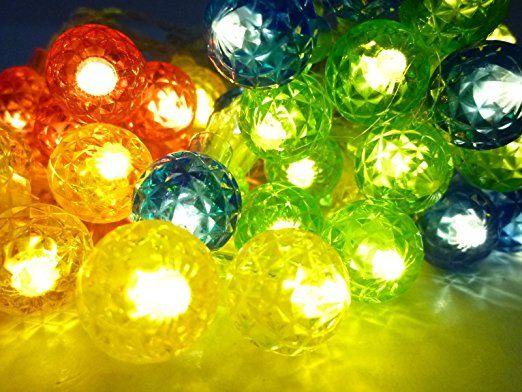 Solar Lichterkette Kugelleuchte Kugellampe Partyleuchte - solarleuchten garten antik