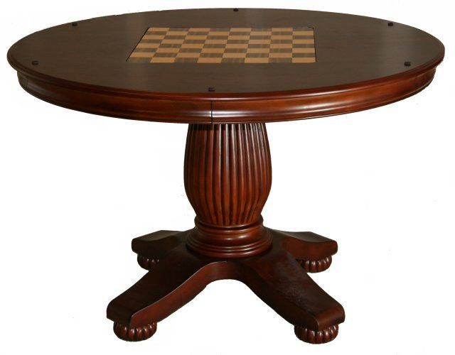 Tremendous Cherry Round 3 In 1 Pedestal Game Table Game Tables Online Home Interior And Landscaping Elinuenasavecom