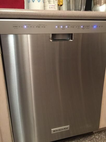 Kitchenaid 24 In Front Control Built In Tall Tub Dishwasher In Stainless Steel With Stainless Steel Tub And Prowash Cycle Kdfe104dss The Home Depot Steel Tub Kitchen Aid Front Control Dishwasher