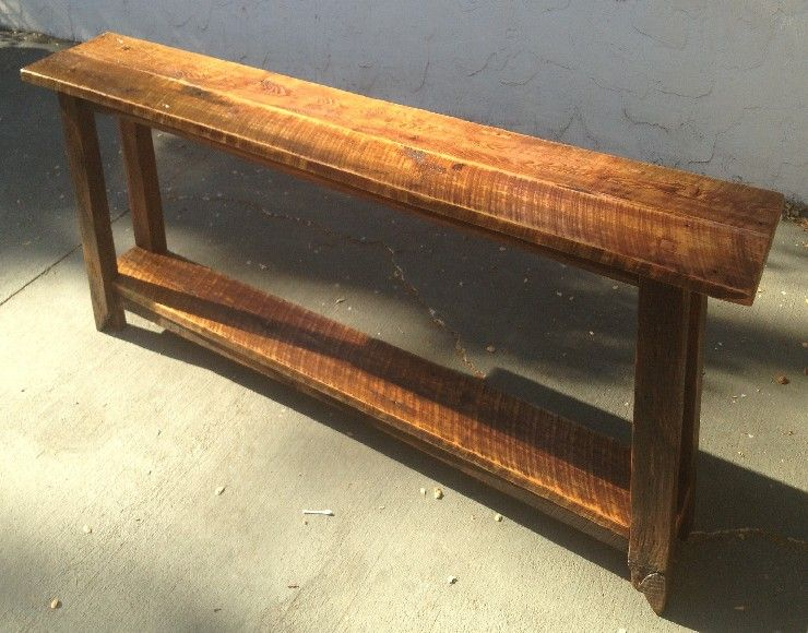 Long narrow console table to put behind sofa against a for Long narrow side table