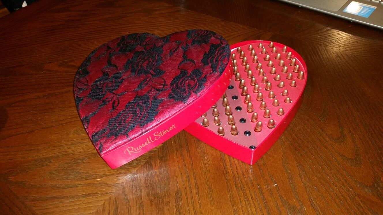 Best Valentine S Day Gift Ever From The Best Boyfriend Heart Shaped Box Of Ammo Best Valentine S Day Gifts Valentine Gifts Boyfriend Gifts
