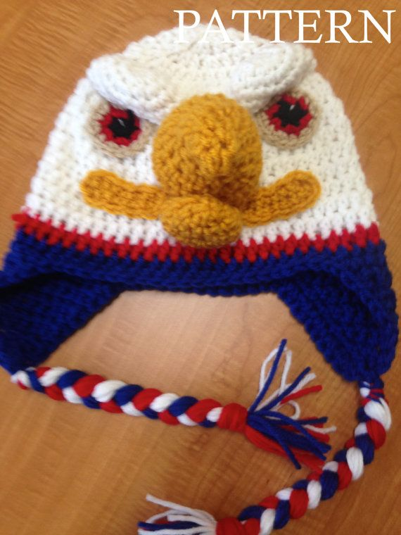 Pattern Crochet Eagle Hat Pattern All Sizes Newborn To Adult