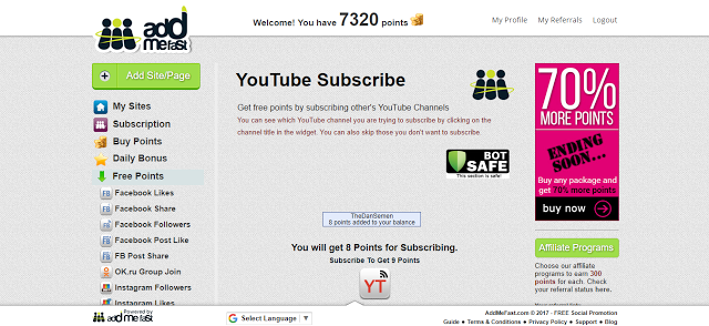 AddMeFast Youtube Subscribe Bot   WinAutomation
