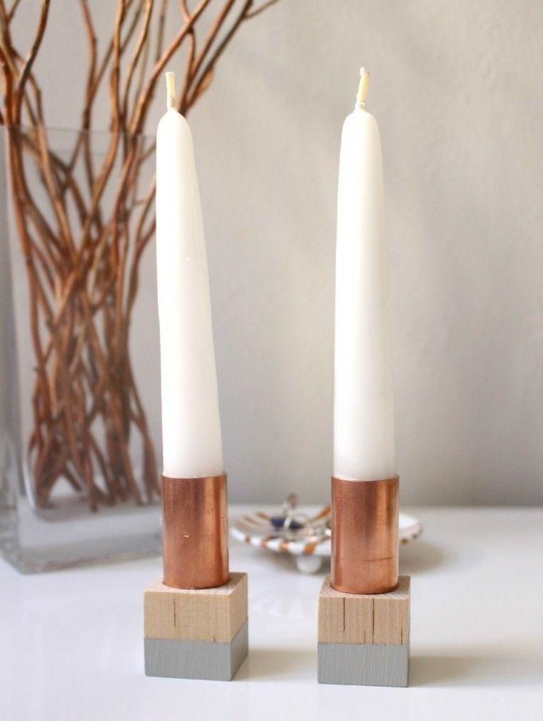 Portavelas hechos a mano 25 ideas originales candelabros velas y ideas originales - Velas y portavelas ...