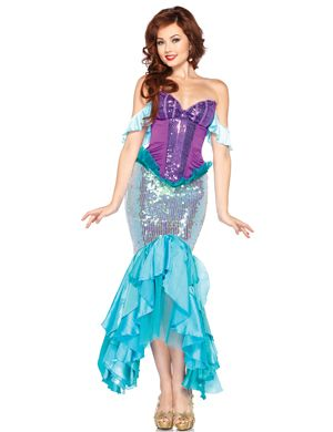 Shiny Purple Deluxe Mermaid Costumes  sc 1 st  Pinterest & Shiny Purple Deluxe Mermaid Costumes | Wonderful Costumes ...