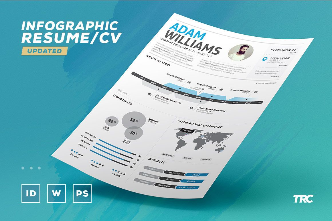 Infographic Resume Vol 2 Psd Indd Docx Template By The
