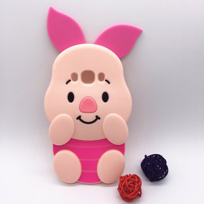 New 3D Cartoon PINK Pig Design Case Piglet Soft Silicon Cover For Samsung Galaxy 2016 J3 J320 & J5 J510 & J7 J710