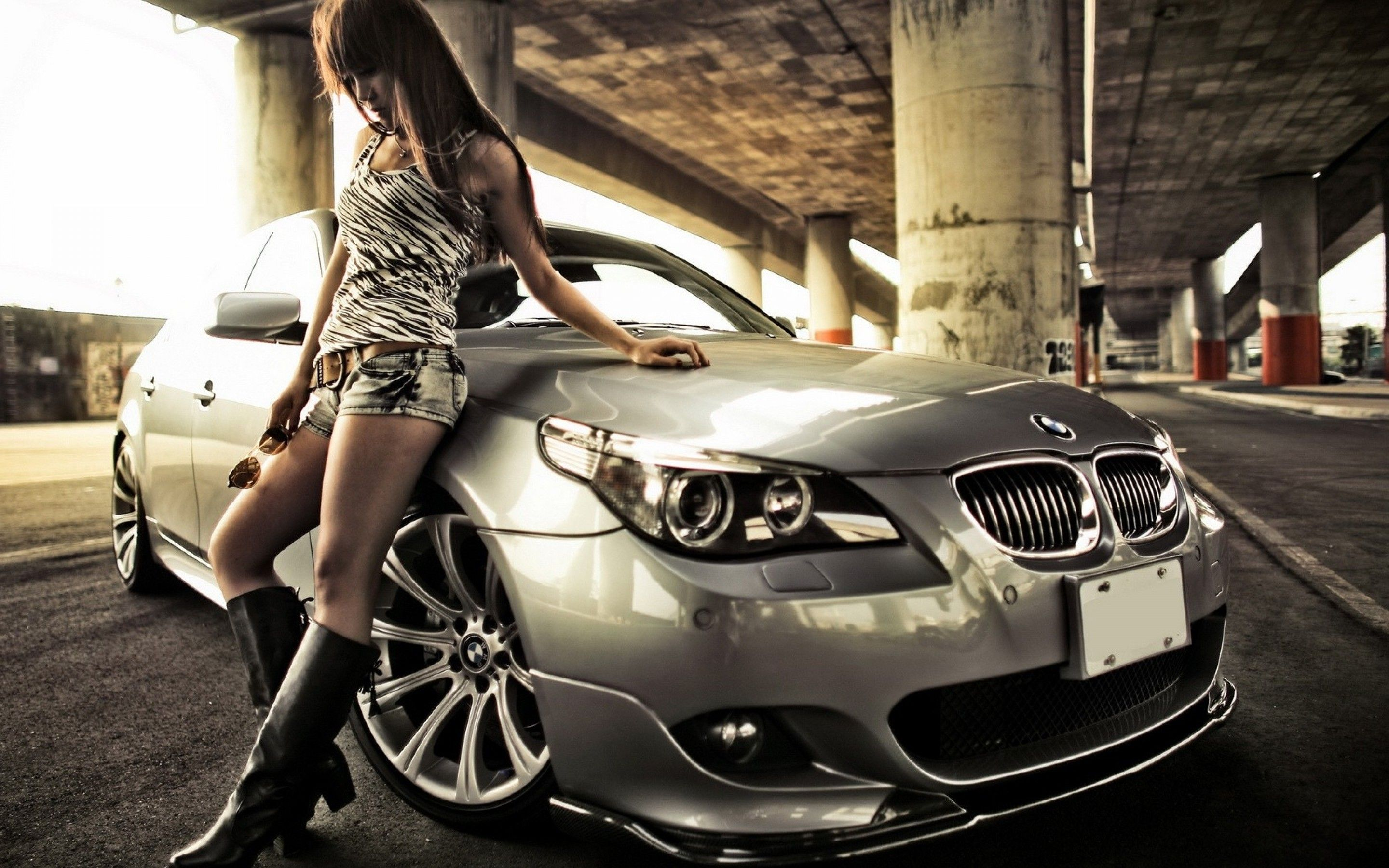 Bmw Show Girl Hd Wallpaper 1080p 1920x1080 Classy Cars And Women