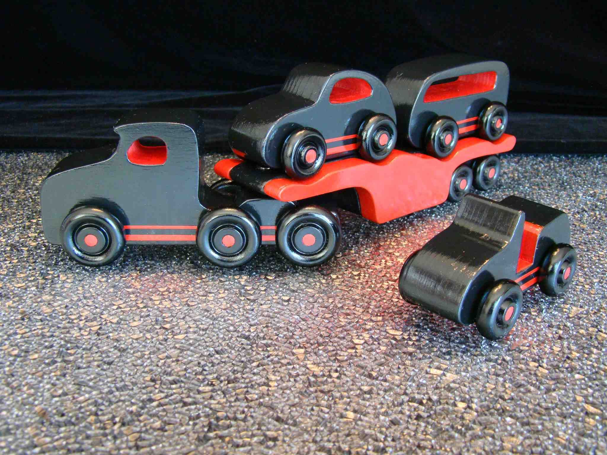Toys car and truck  Handmade Wooden Toy Truck Car Carrier Hauler  Wooden Toys