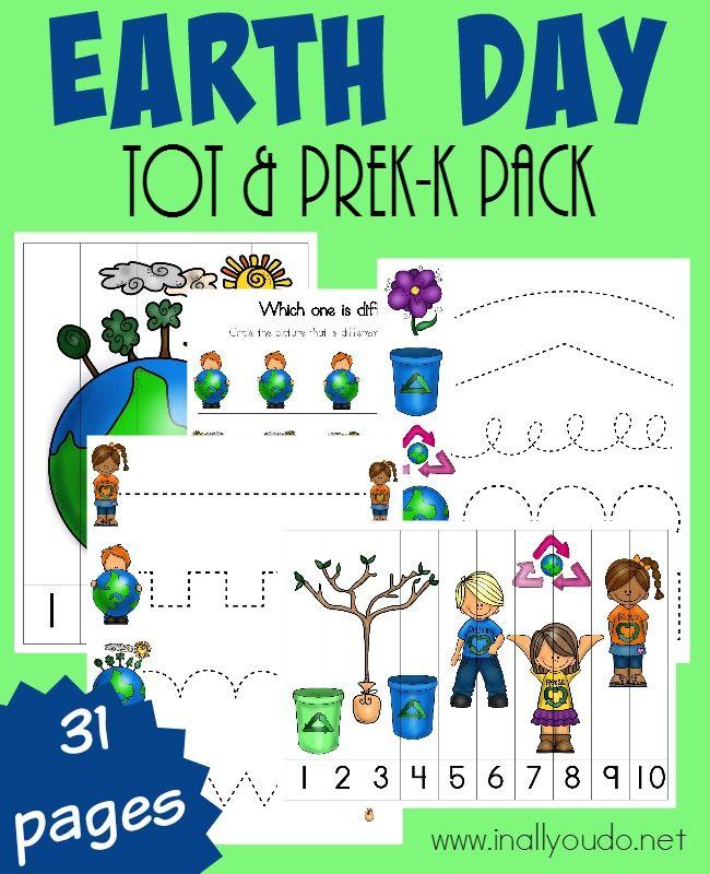 Earth Day Tot & PreK-K Pack | Montessori idees | Pinterest