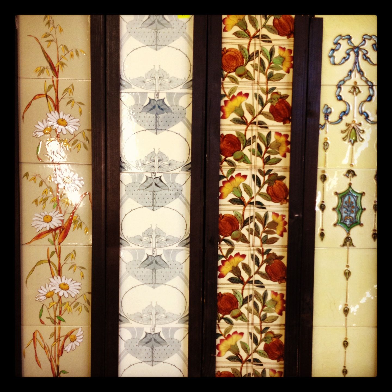 Antique Fireplace Tile Sets At Nostalgia 1 Side Of Each Set Pictured