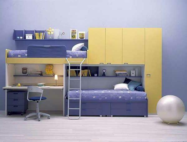 Sparen Sie Platz mit Etagenbett - 30 funktionelle Ideen für das - hochbett fur schlafzimmer kinderzimmer
