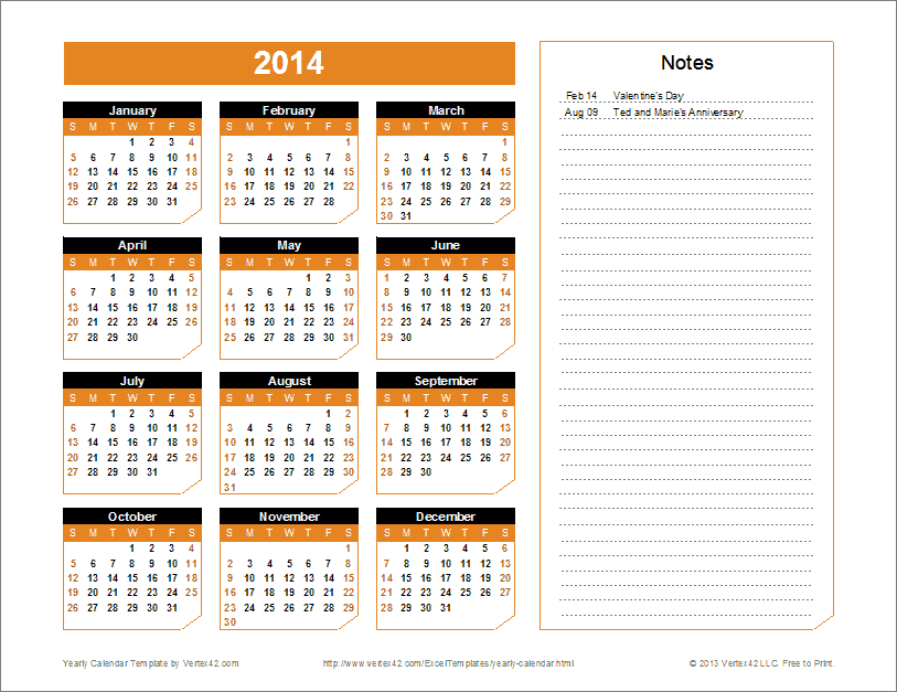A Great Calendar Template For Yearly Planning You Can Change The