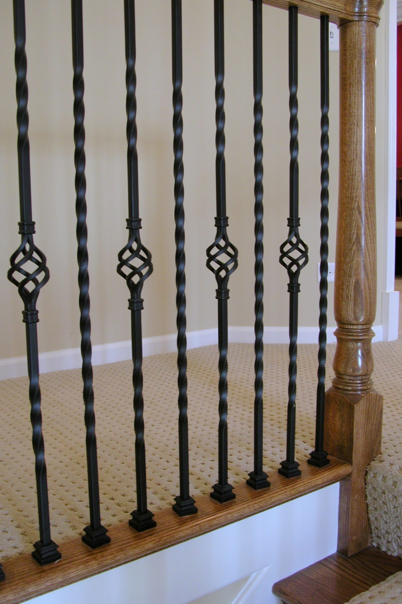 Best 16 1 3 T Hollow Single Basket Iron Baluster Wrought Iron Stair Railing 400 x 300