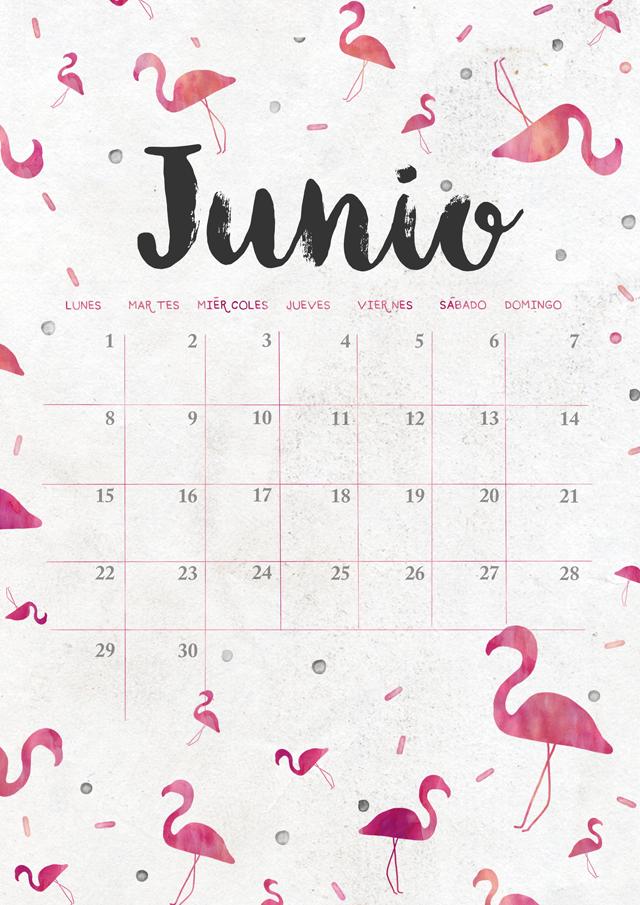 Calendario de junio imprimible y fondo milowcostblog for Plantillas mr wonderful
