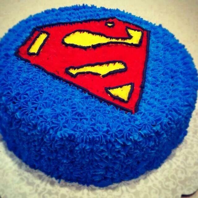 Superman cake cakes Pinterest Superman cakes Cake and Cream cake