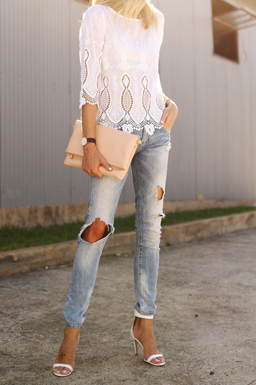 c46a3675059 fashion-jackson-banana-republic-white-lace-top-zara-ripped-jeans-white-heels -gigi-new-york-clutch