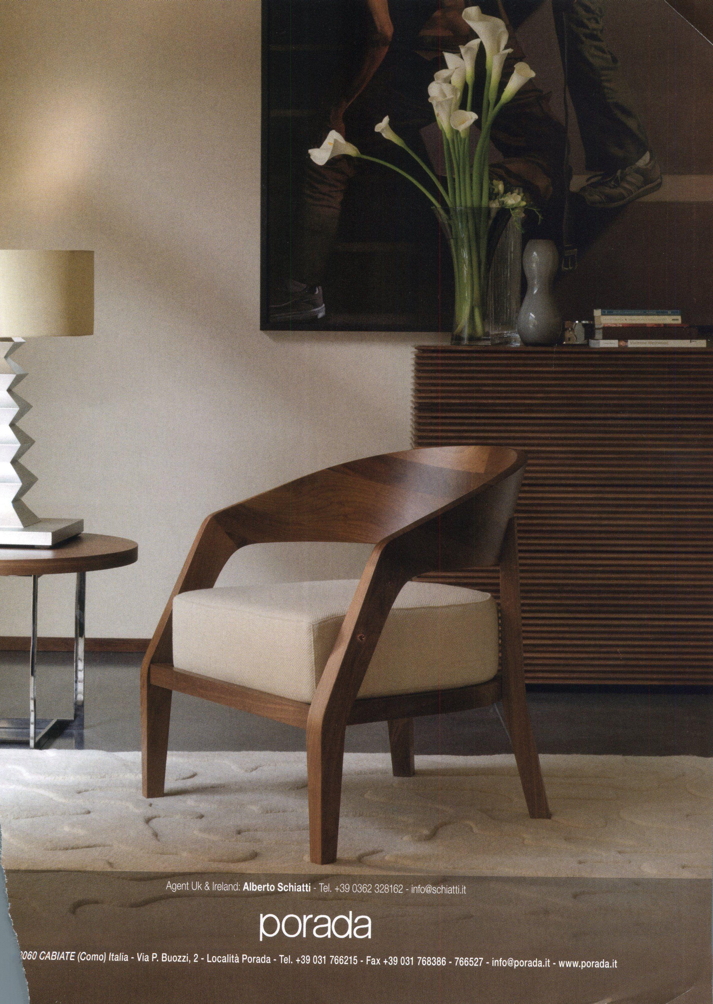 Porada Alba Armchair In American Walnut Furniture Contemporary