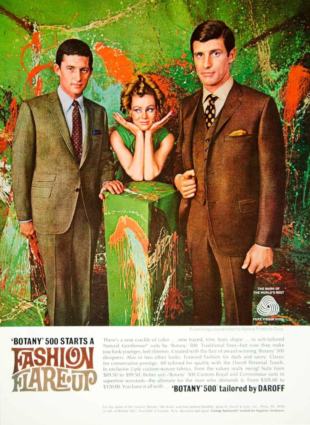 ad vintage botany suit clothing style fashion s pop art