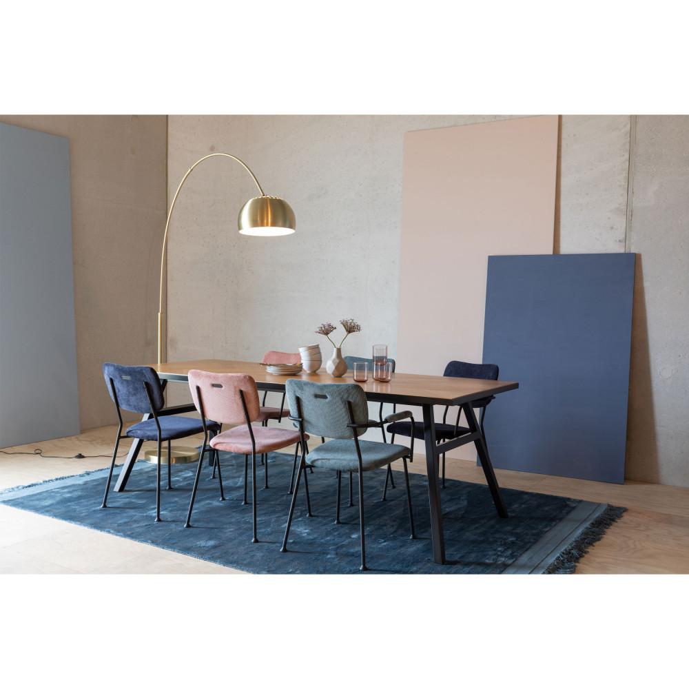 Benson 2 Fauteuils De Table En Velours Cotele En 2020 Fauteuil De Table Chaise Table Et Chaises