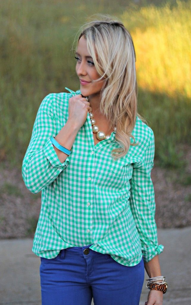 Shannon Willardson: GBO Fashion Blog // Shannon brings a pop of color to her outfit with a blue bangle bracelet from Jane.com. We love it! #veryjane