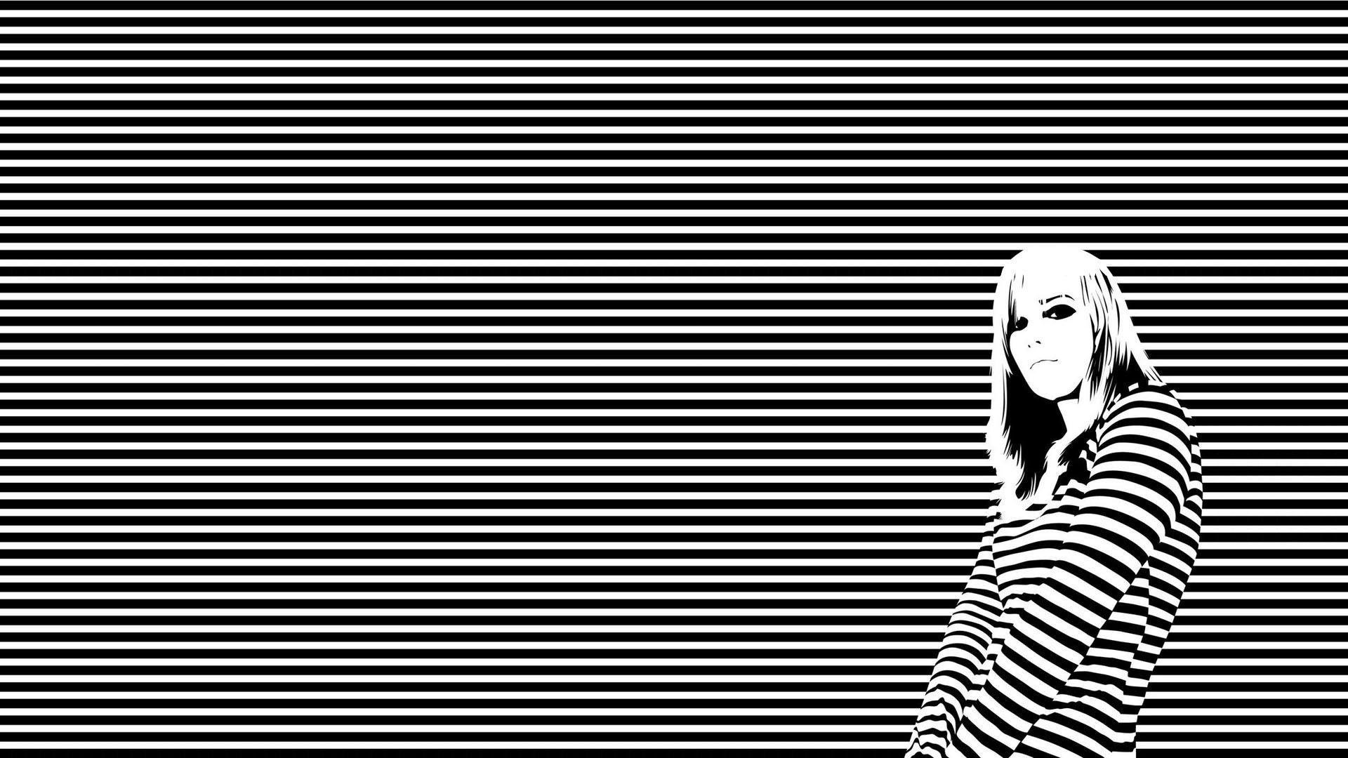 black and white striped wallpaper hd