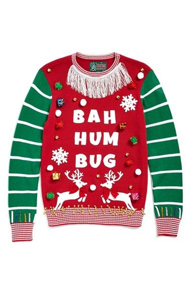 Ugly Christmas Sweater 'Make Your Own - White Stripe' Sweater Kit ...
