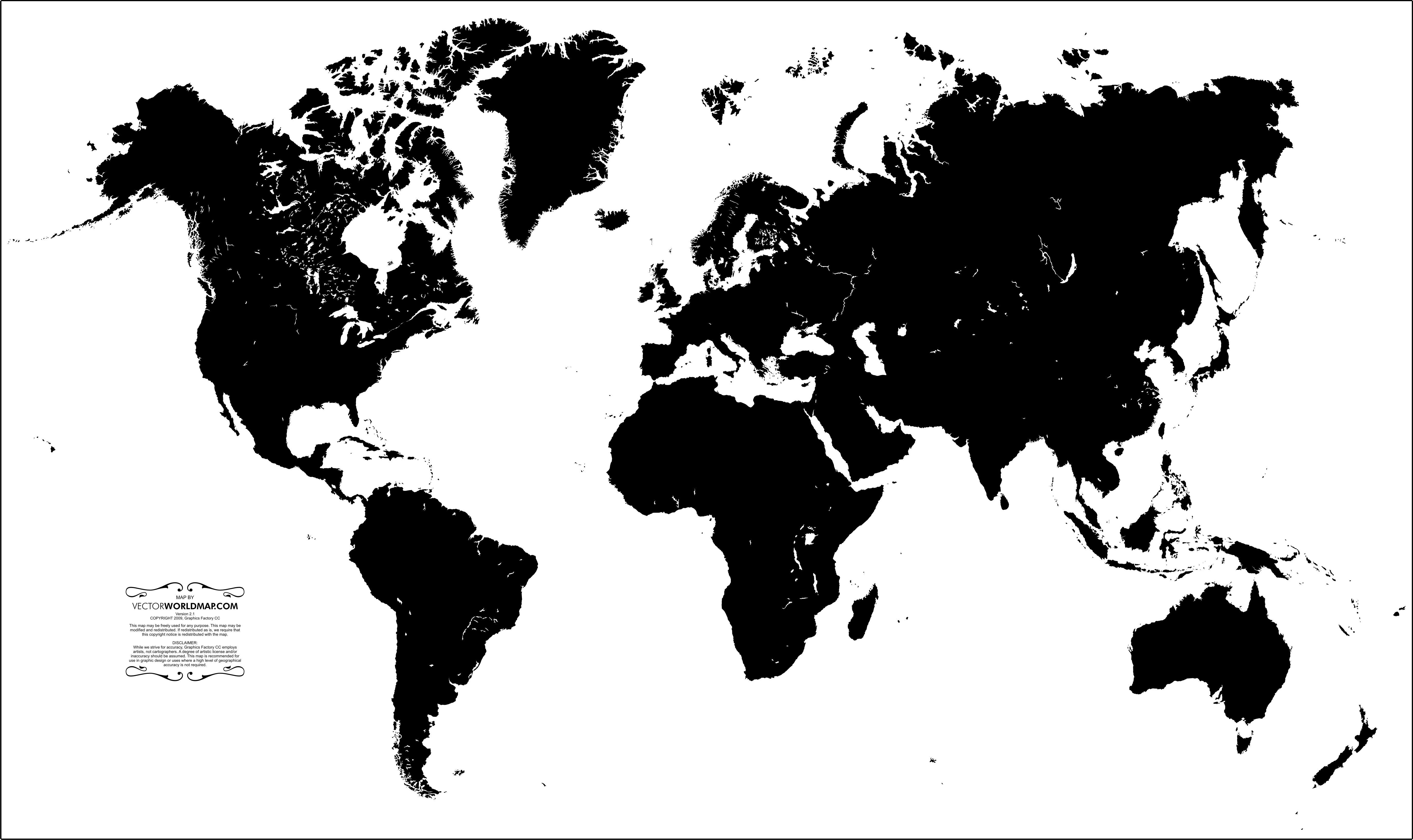 Blank vector world map design type photography pinterest blank vector world map sciox Images
