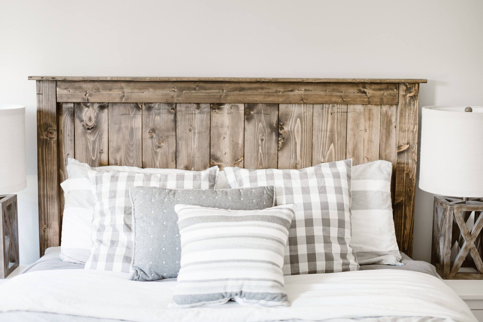 The Simple Farmhouse Wooden Headboard Local Customers Only Etsy Wooden Headboard Diy Wood Headboard Simple Headboard