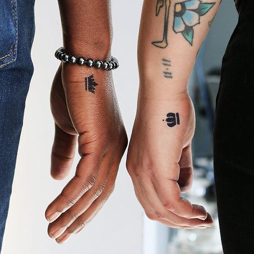 King and Queen Tattoo - Semi-Permanent Tattoos by inkbox™