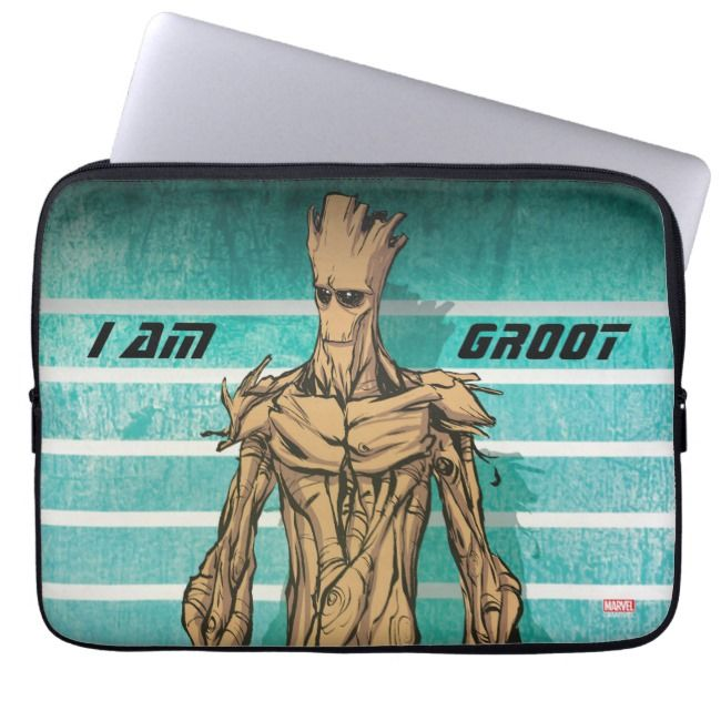 Guardians of the Galaxy  Groot Mugshot Laptop Sleeve