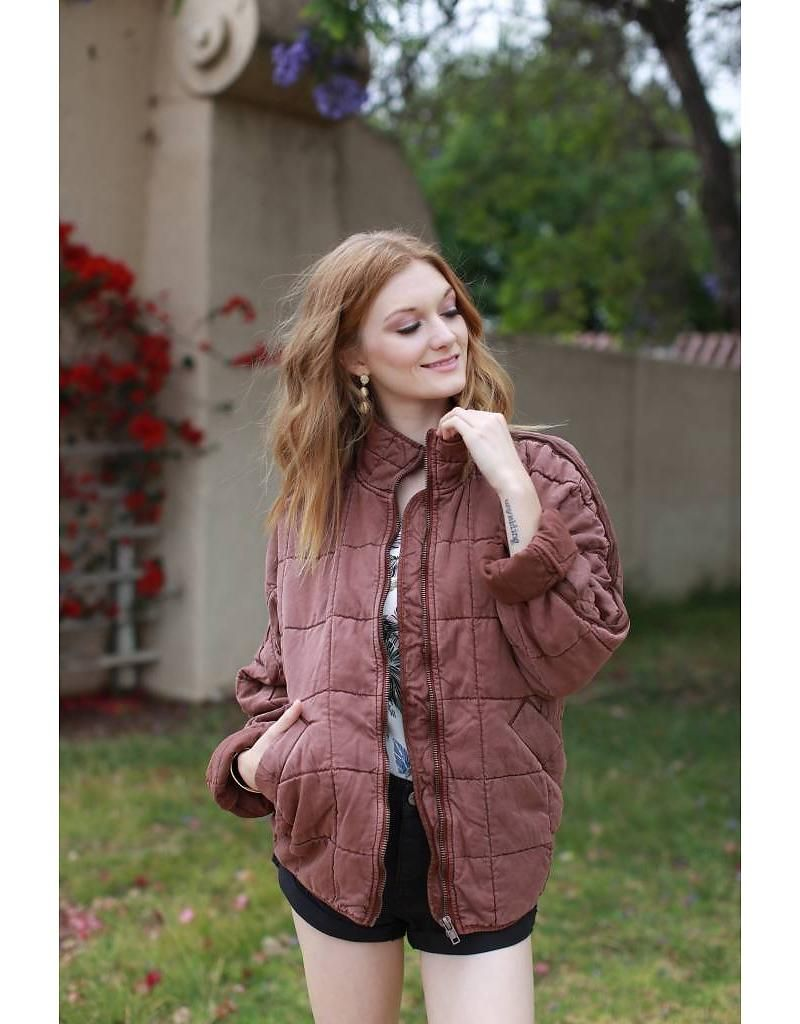 85467537829b free people free people dolman quilted jacket - mimi   red inc