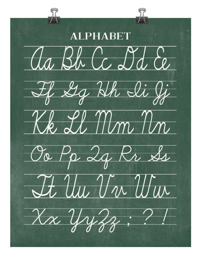 Vintage Cursive Alphabet Classroom Chalkboard Print Back To School Teacher Appreciation Gift Cursive Alphabet Alphabet School Cursive Alphabet Chart [ 1024 x 805 Pixel ]