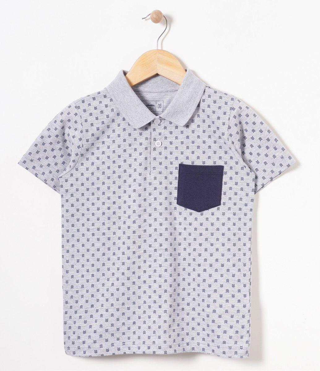2681b6775a Camiseta infantil Manga longa Gola polo Estampada Marca  Fuzarka Tecido   meia malha COLEÇÃO INVERNO