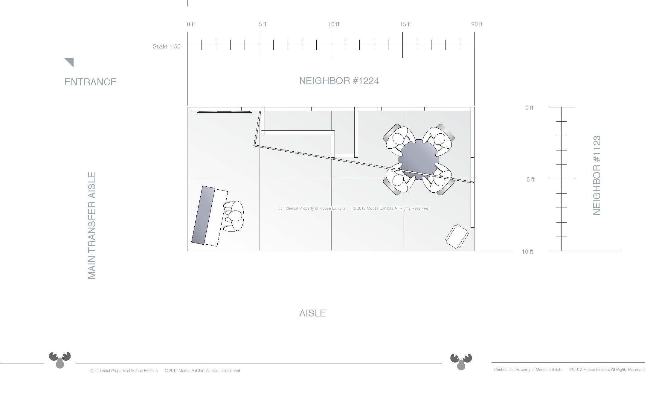 10 x 20 trade show exhibit floor plan design rcs 10 x for Trade show floor plan design