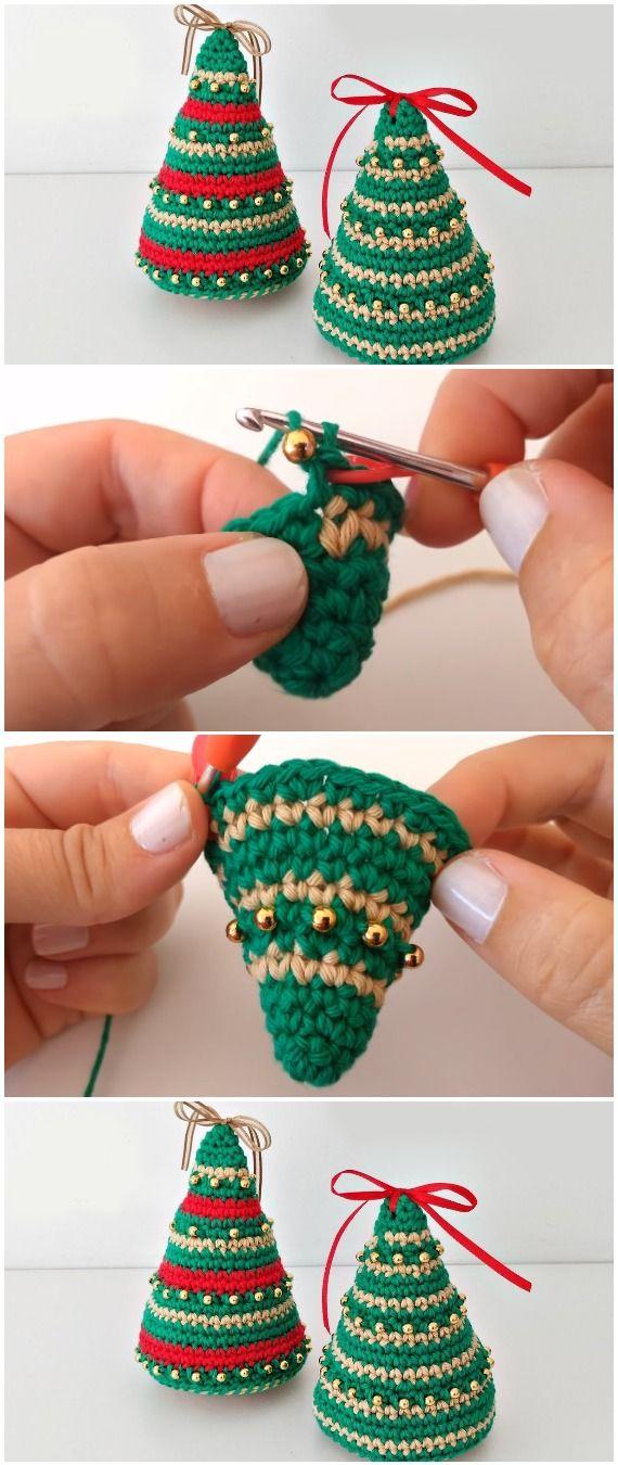 Learn To Crochet Christmas Trees #irishlace