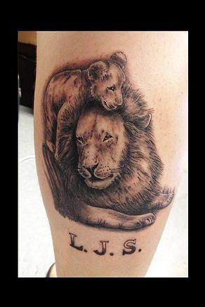Lion with cub tattoo my tattoo work pinterest cubs for Lion and cub tattoo